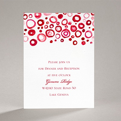 Artsy Romance - Cherry - Reception Card