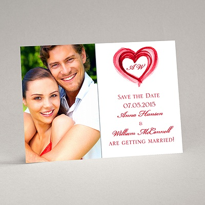 Artsy Romance - Cherry - Save the Date Magnet