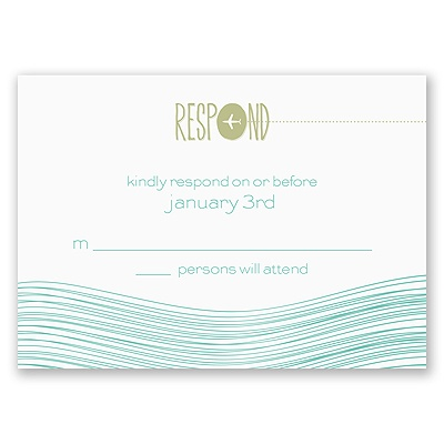 Destination Waves - Response Card and Envelope