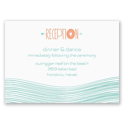 Destination Waves - Reception Card
