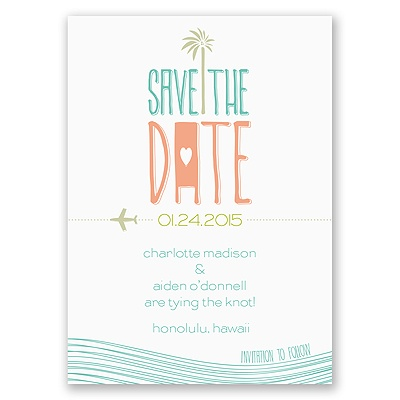 Destination Waves - Save the Date Magnet