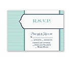 Pinstripe Monogram - Response Card and Envelope