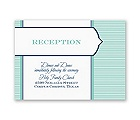 Pinstripe Monogram - Reception Card