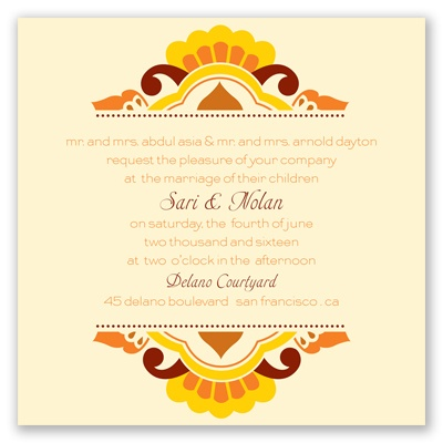 Moroccan Beauty - Citrus - Invitation