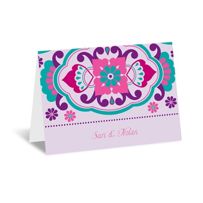 Moroccan Beauty - Fuchsia - Note Card and Envelope