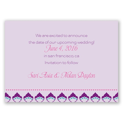 Moroccan Beauty - Fuchsia - Save the Date Magnet