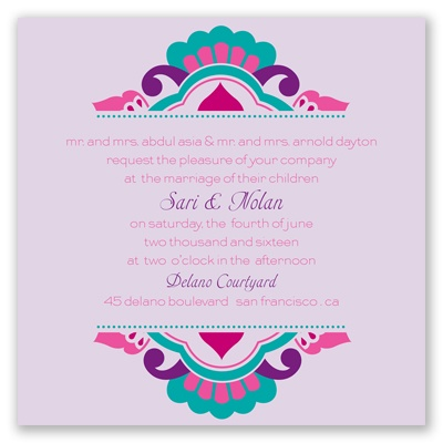 Moroccan Beauty - Fuchsia - Invitation