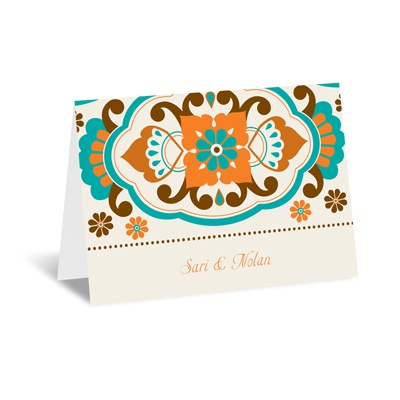 Moroccan Beauty - Peacock - Note Card and Envelope