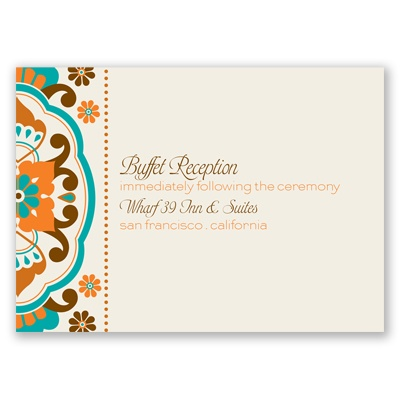 Moroccan Beauty - Peacock - Reception Card