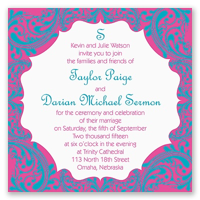 Bollywood Flair - Invitation