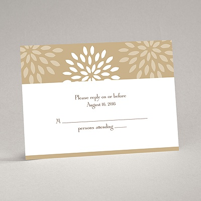 Mod Blossoms - Champagne - Response Card and Envelope