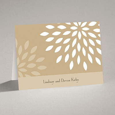 Mod Blossoms - Champagne - Note Card and Envelope