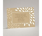 Mod Blossoms - Champagne - Reception Card