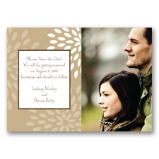 Mod Blossoms - Champagne - Save the Date Magnet