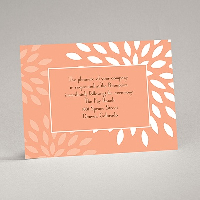 Mod Blossoms - Corabell - Reception Card
