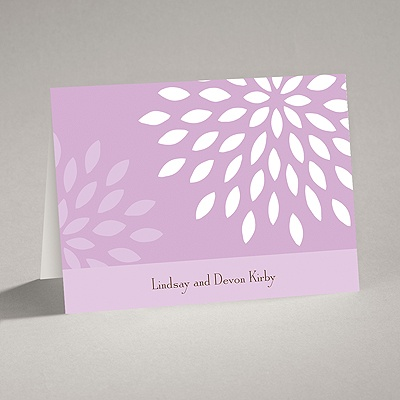 Mod Blossoms - Freesia - Note Card and Envelope