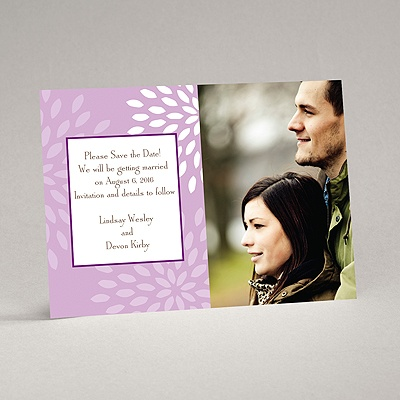 Mod Blossoms - Freesia - Save the Date Magnet