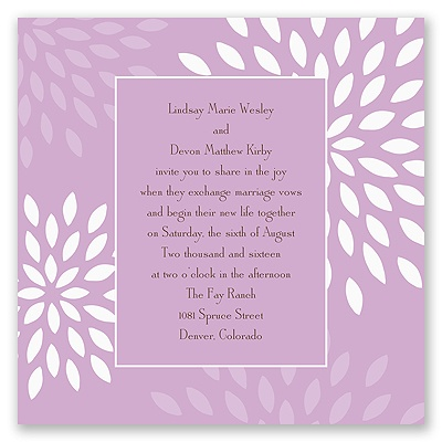Mod Blossoms - Freesia - Invitation