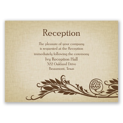 Growing Love - Reception Card