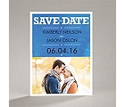 Wedding Type - Navy - Save the Date Magnet