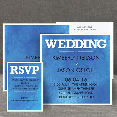 Wedding Type - Navy - Invitation