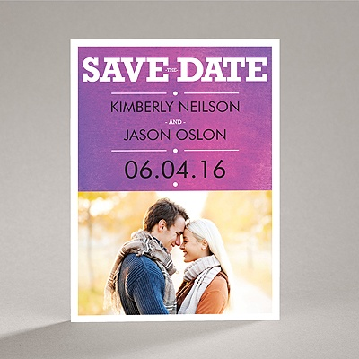Wedding Type - Orchid - Save the Date Magnet