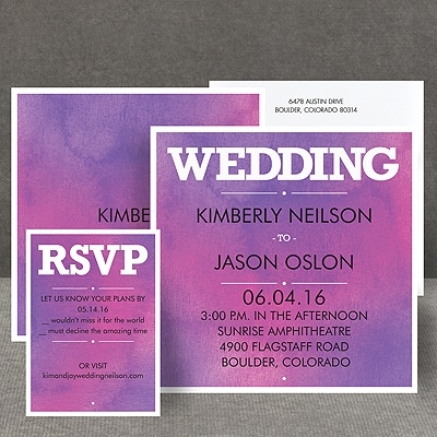 Wedding Type - Orchid - Invitation