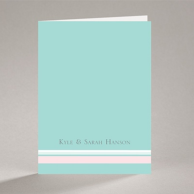 Romantic Posies - Aqua - Note Card and Envelope