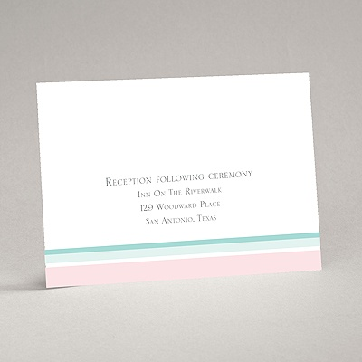 Romantic Posies - Aqua -Reception Card