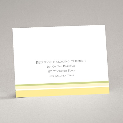 Romantic Posies - Canary -Reception Card