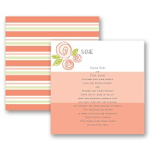 Romantic Posies - Tango - Invitation