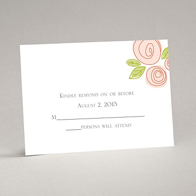 Romantic Posies - Tango - Response Card and Envelope