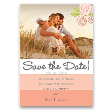 Romantic Posies - Tango - Save the Date Magnet