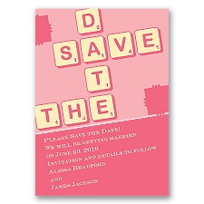 Love Letters - Posie Pink - Save the Date Magnet