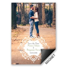 Filigree Crest - Save the Date Magnet