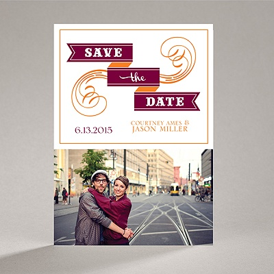 Calligraphy Banner - Save the Date Magnet