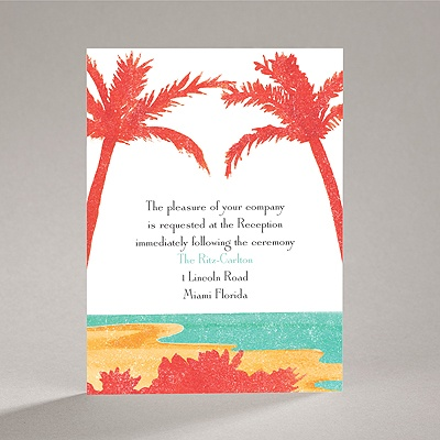 Palm Tree Pair - Reception Card