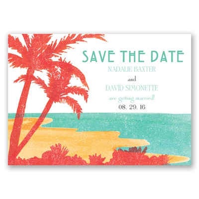 Palm Tree Pair - Save the Date Magnet