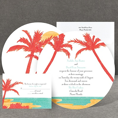 Palm Tree Pair - Invitation
