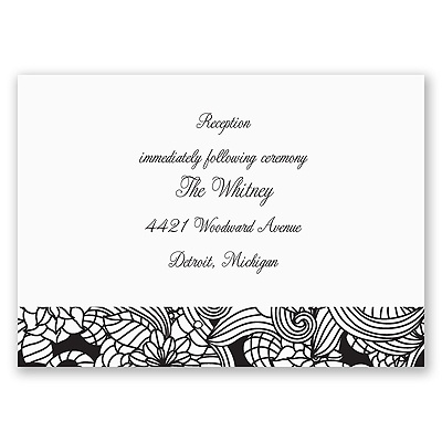 Blossoming Beauty - Reception Card
