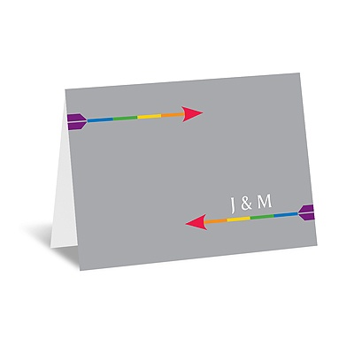 Rainbow Arrows - Note Card and Envelope