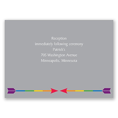 Rainbow Arrows - Reception Card