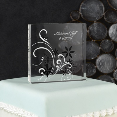 Flowers and Flourishes Cake Top