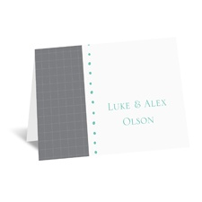 Patterned Tuxes - Note Card and Envelope