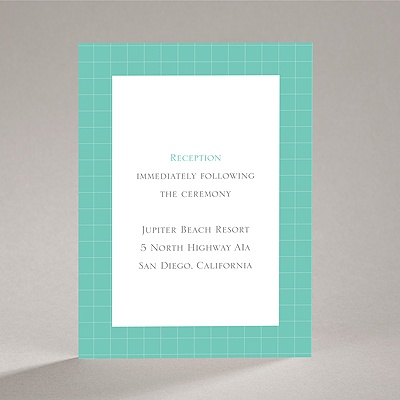 Patterned Tuxes - Reception Card