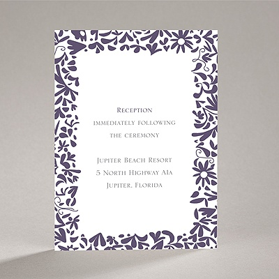 Patterned Tux and Dress - Reception Card