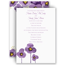 Watercolor Pansies - Invitation
