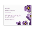 Watercolor Pansies - Reception Card