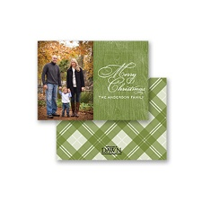 Country Appeal - Pine - Petite Photo Holiday Card