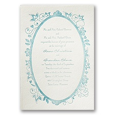 Floral Allure - Ecru - Featherpress Invitation